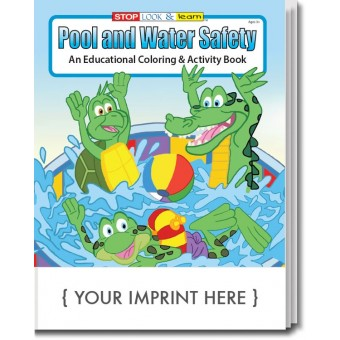 Pool and Water Safety Coloring & Activity Book
