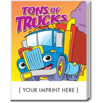 Tons of Trucks Coloring & Activity Book