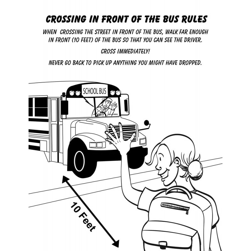 Bus Safety Coloring Book