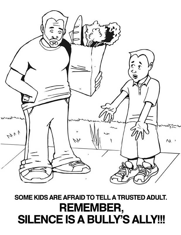 Anti Bullying Coloring Pages For Kindergarten : Anti bullying coloring pages for kindergarten