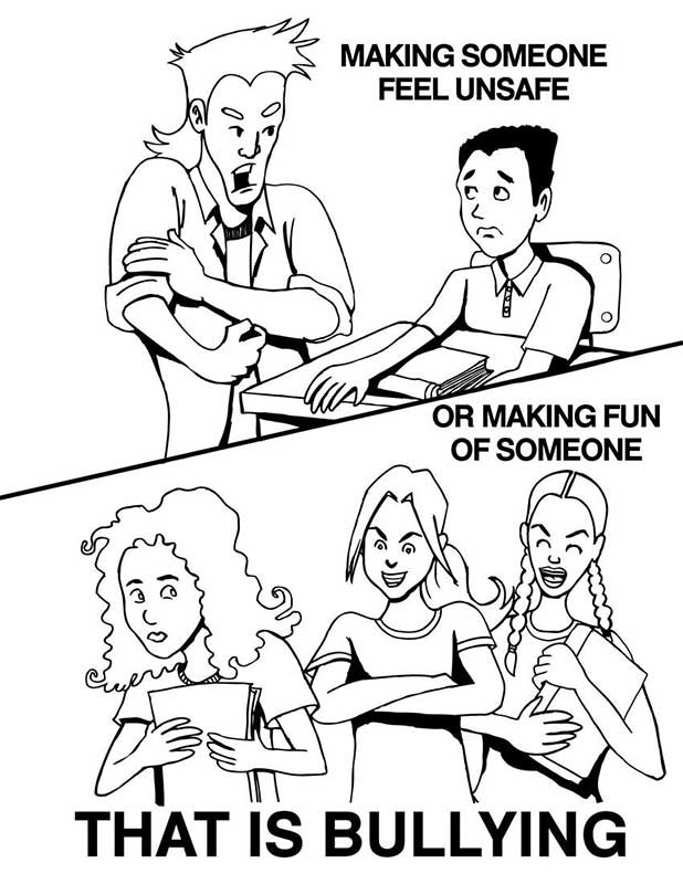 And Bullying Colouring Pages Anti Bullying Pictures To Color
