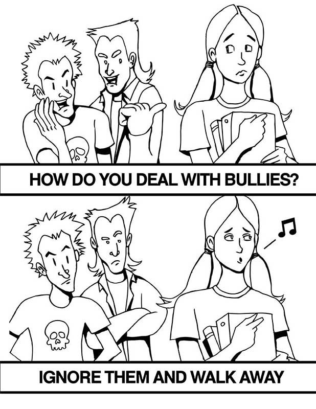 Free Coloring Pages Of Children Bully Anti Bullying Colouring Pages