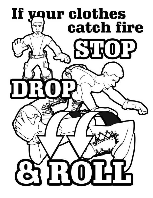 Fire safety rules coloring pages ~ Sparky Fire Safety Coloring Book Coloring Pages