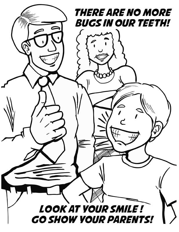 caring for teeth coloring book - Good Touch Bad Touch Coloring Book