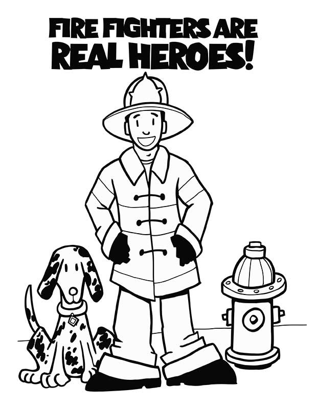 87 Fire Dog Coloring Book