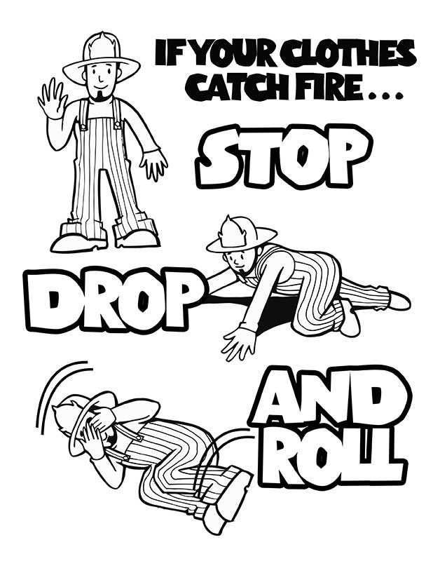 kids fire prevention coloring pages - photo#6