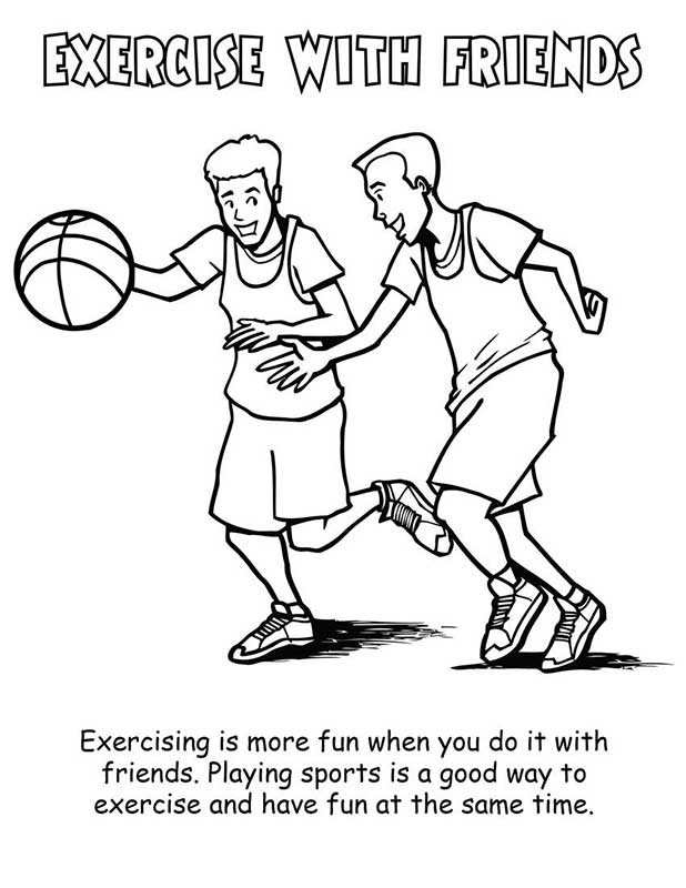 physical exercise coloring pages - photo#9