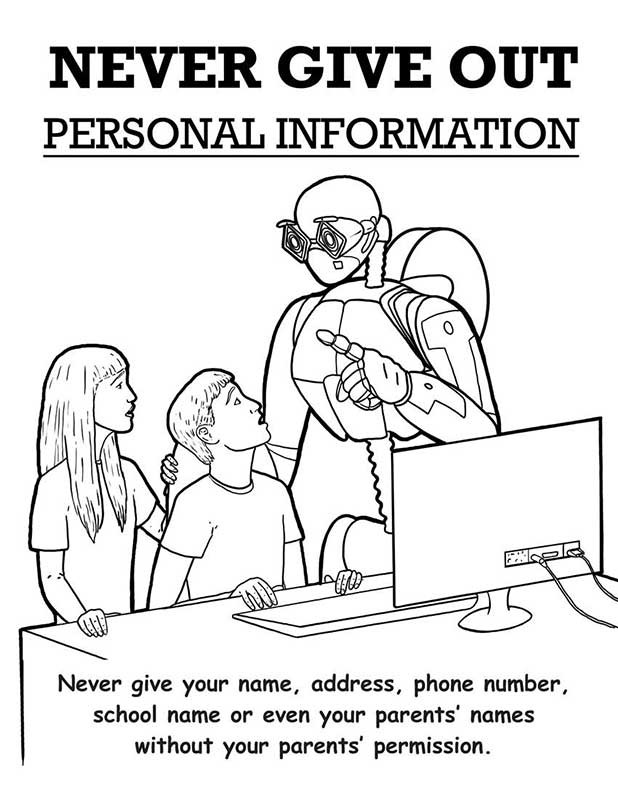 Free Coloring Pages Of Internet Safety Safety Colouring Pages