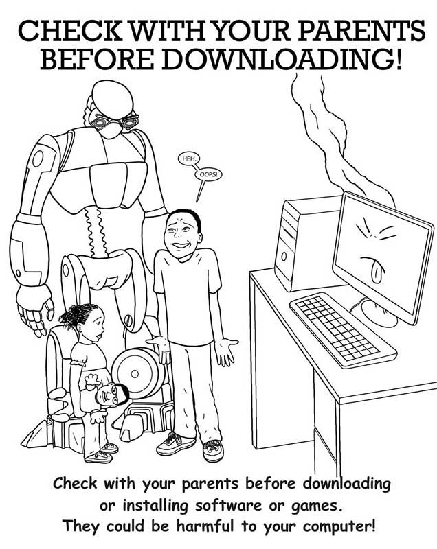 online safety coloring pages - photo#9