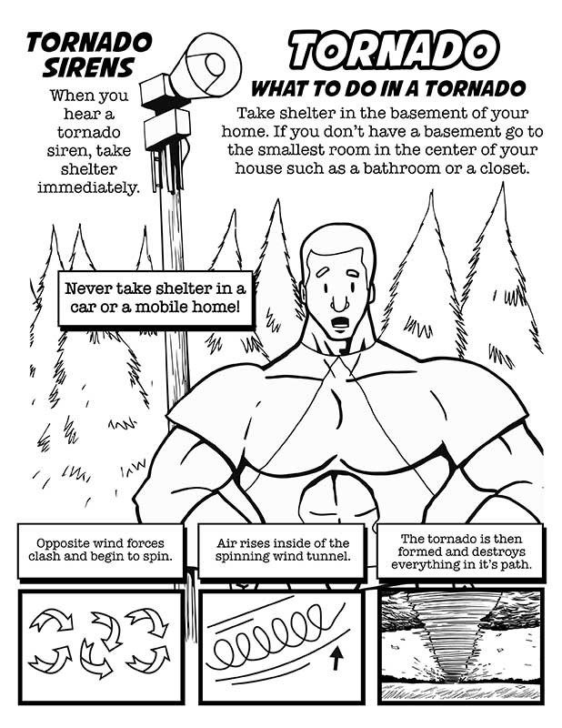 Coloring pages natural disaster