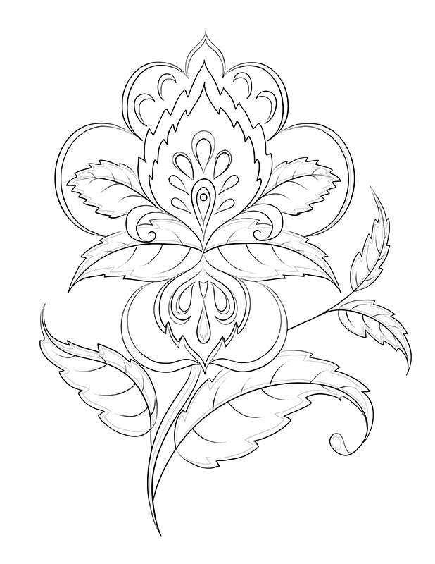 the art of flowers adult coloring book