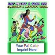 Eat Right & Stay Fit Coloring Book