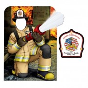 LINEMAN FIREFIGHTER PHOTO PROP