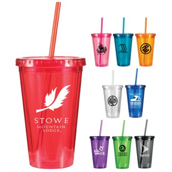 Acrylic Tumblers with Straw