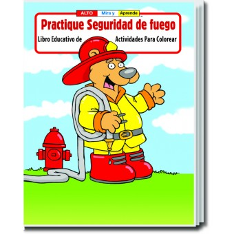 Practice Fire Safety (Spanish) Coloring & Activity Book
