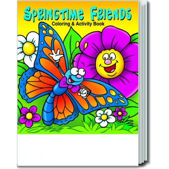 Springtime Friends Coloring & Activity Book