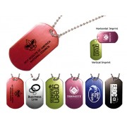 Dog Tags Aluminum 23 Inch Chain