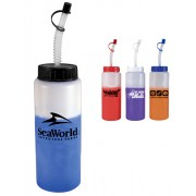 Mood Squeeze Bottless 32oz with Straws