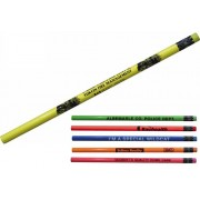 Pencils Neon with Matching Erasers