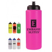 Squeeze Bottles 32 oz with Push Pull Cap