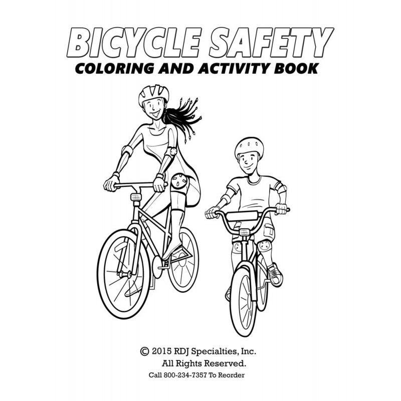 bicycle safety coloring book