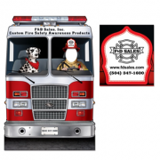 FIRE ENGINE WITH DALMATION PHOTO PROP