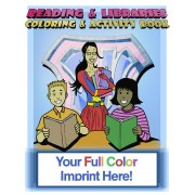 Reading and Libraries Coloring Book